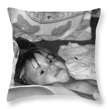 Last Picture Before Bed.. Throw Pillow