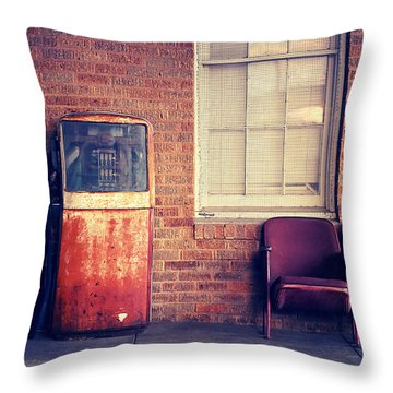 Throw Pillow featuring the photograph Last Pump Standing by Trish Mistric