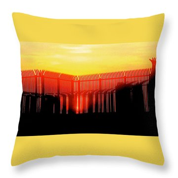 Last Ray Throw Pillow