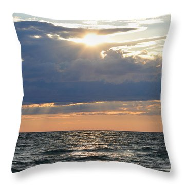 Last Rays Of Sunlight Throw Pillow