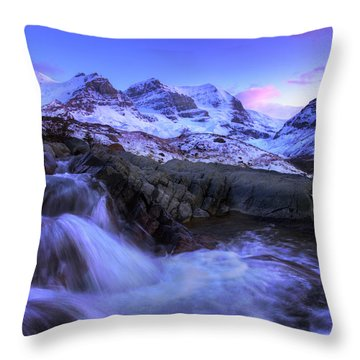 Last Rays On Andromeda Throw Pillow
