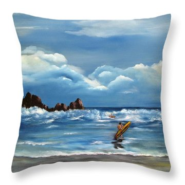 Last Ride Throw Pillow by Carol Sweetwood