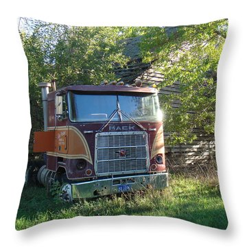 Last Ride Throw Pillow by Bonfire Photography
