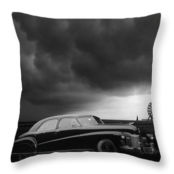 Roadside Attraction Throw Pillow by Larry Butterworth