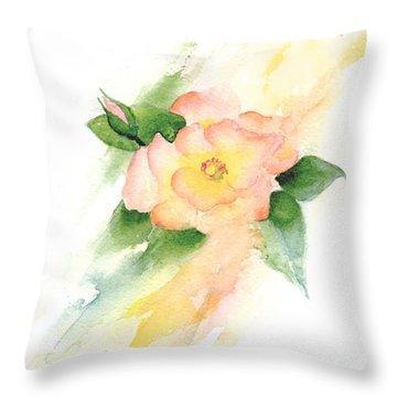 Last Rose Of Summer Throw Pillow