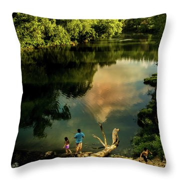Throw Pillow featuring the photograph Last Seconds Of Summer by Robert Frederick