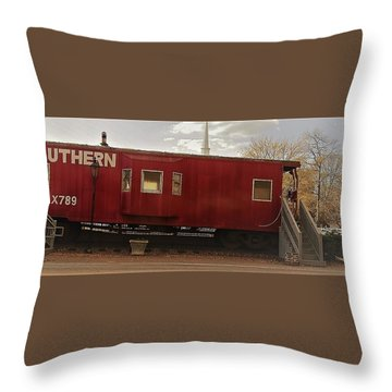 Throw Pillow featuring the photograph Last Stop by Aaron Martens