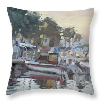Last Sun Touch Throw Pillow