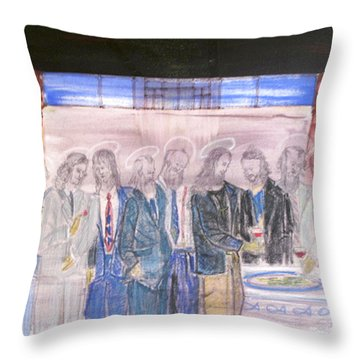 Last Supper 20th Century Throw Pillow by Marwan George Khoury