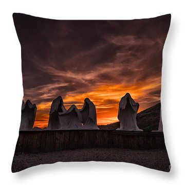Last Supper At Sunset Throw Pillow