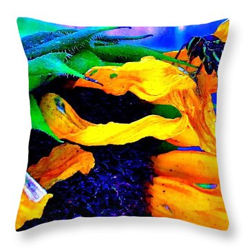Last Supper Throw Pillow by Gwyn Newcombe