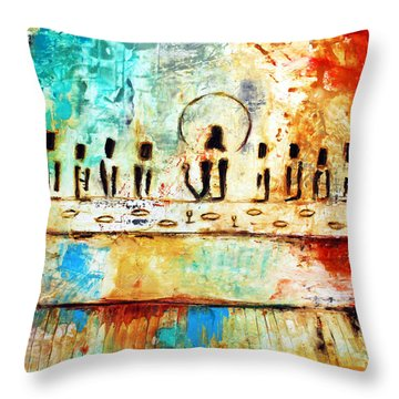 Last Supper Iv Throw Pillow