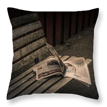 Last Train Throw Pillow