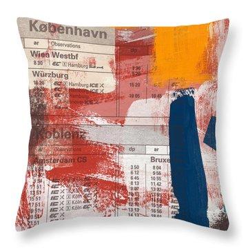 Last Train To Kobenhavn- Art By Linda Woods Throw Pillow