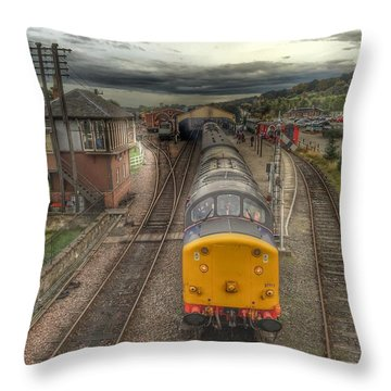 Last Train To Manuel Throw Pillow by RKAB Works