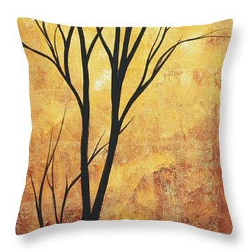 Last Tree Standing By Madart Throw Pillow by Megan Duncanson