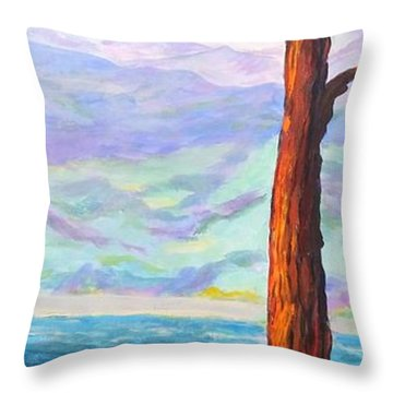 Last Tree Standing Throw Pillow