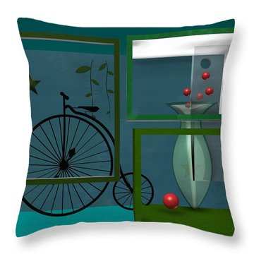 Last Years In Green Throw Pillow