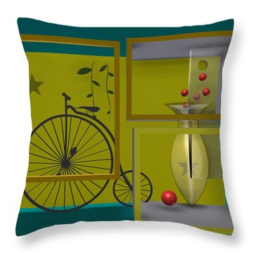 Last Years In Yellow Throw Pillow