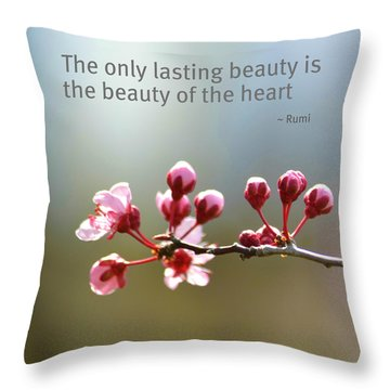 Lasting Beauty Throw Pillow