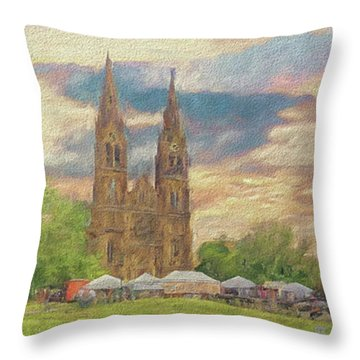 Lasting Impression - Prague Throw Pillow
