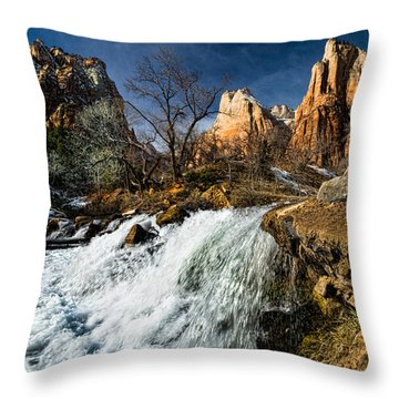 Late Afternoon At The Court Of The Patriarchs Throw Pillow by Christopher Holmes