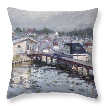Late Afternoon At Tonawanda Harbor Throw Pillow