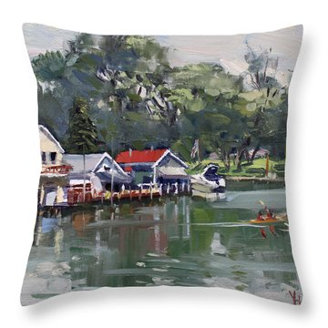Late Afternoon By The Canal Throw Pillow
