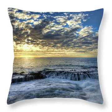 Throw Pillow featuring the photograph Late Afternoon In Laguna Beach by Eddie Yerkish