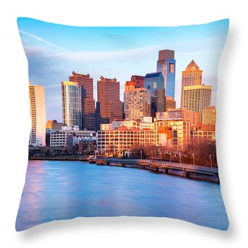 Throw Pillow featuring the photograph Late Afternoon In Philadelphia by Mihai Andritoiu