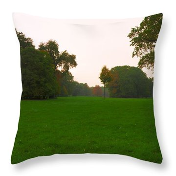 Late Afternoon In The Park Throw Pillow