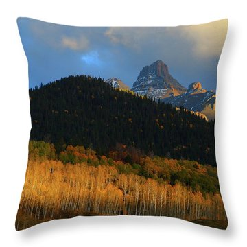 Late Afternoon Light On The San Juans Throw Pillow by Jetson Nguyen