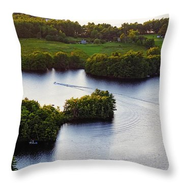 Late Afternoon On Lake Megunticook, Camden, Maine -43988 Throw Pillow