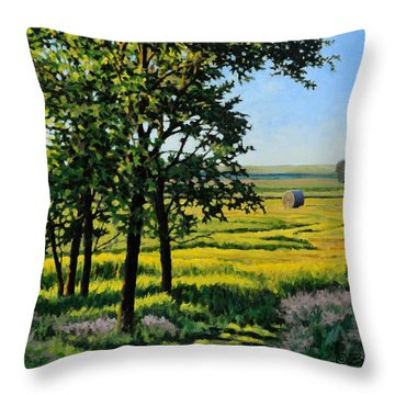 Late Afternoon Pasture Throw Pillow