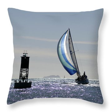 Late Afternoon Sail Throw Pillow
