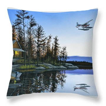 Late Arrival Throw Pillow