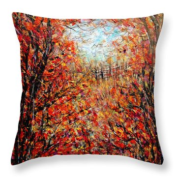 Late Autumn Throw Pillow by Natalie Holland