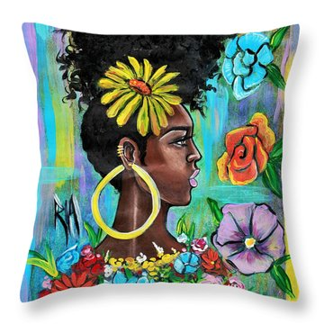 Late Bloomer Throw Pillow