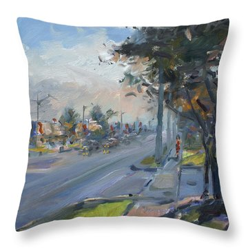 Late Evening In Guelph Street Georgetown Throw Pillow