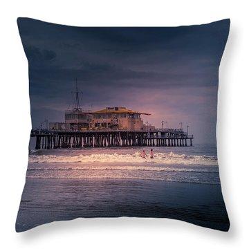 Late Evening Swim Throw Pillow