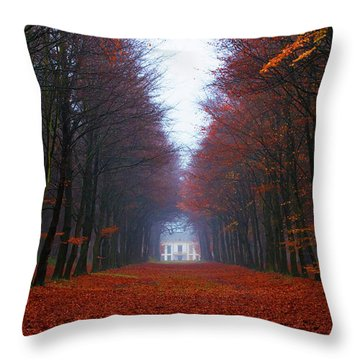 Late Fall Forest Throw Pillow