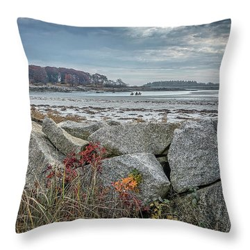 Late Fall Ride Throw Pillow