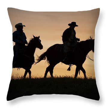 Late For Supper Throw Pillow