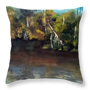 late in the Day on Blue Creek Throw Pillow