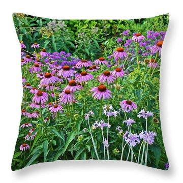 Late July Garden 2 Throw Pillow