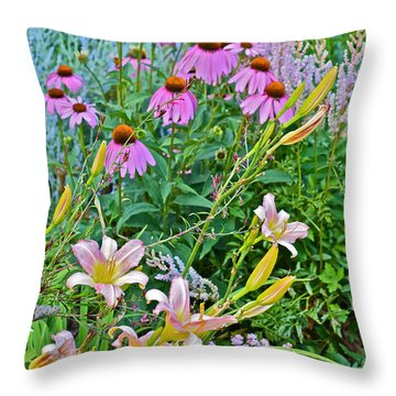 Late July Garden 3 Throw Pillow