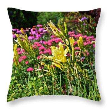 Late July Garden 1 Throw Pillow