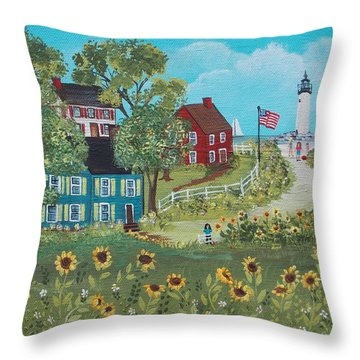 Late July Throw Pillow