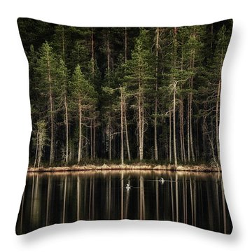 Late Loons Throw Pillow