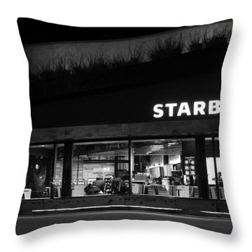 Throw Pillow featuring the photograph Late Night At The Bucs by David Lee Thompson